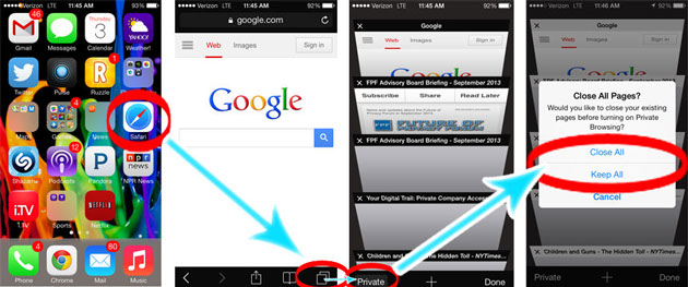 dnt ios7 safari